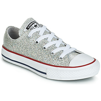 3cccb0805e Schuhe Mädchen Sneaker Low Converse CHUCK TAYLOR ALL STAR SPARKLE SYNTHETIC OX  Grau