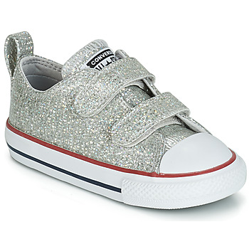Schuhe Mädchen Sneaker Low Converse CHUCK TAYLOR ALL STAR 2V SPARKLE SYNTHETIC OX Grau