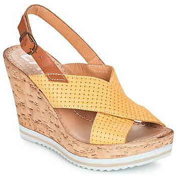 Schuhe Damen Sandalen / Sandaletten Elue par nous EMPIRE Gelb