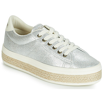 Schuhe Damen Sneaker Low No Name MALIBU Silbern