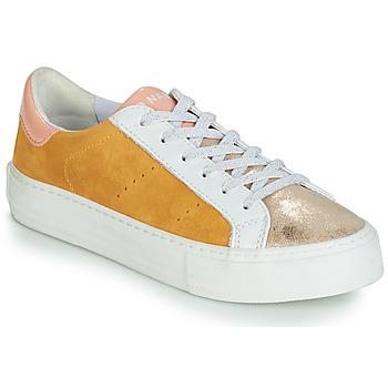 Schuhe Damen Sneaker Low No Name ARCADE Weiss / Gold / Gelb