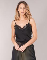 Kleidung Damen Tops / Blusen Ikks BN11105-02 Schwarz