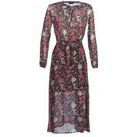 Kleidung Damen Maxikleider Ikks BN30065-02 Schwarz / Rot / Grau