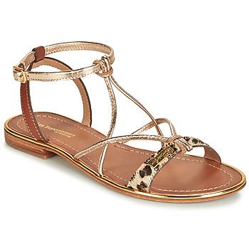 Schuhe Damen Sandalen / Sandaletten Les Tropéziennes par M Belarbi HIRONDEL Leopard / Gold