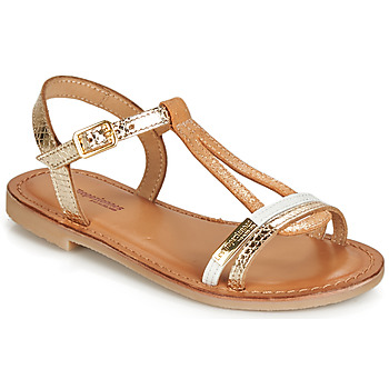 Schuhe Mädchen Sandalen / Sandaletten Les Tropéziennes par M Belarbi BADA Gold / Weiss