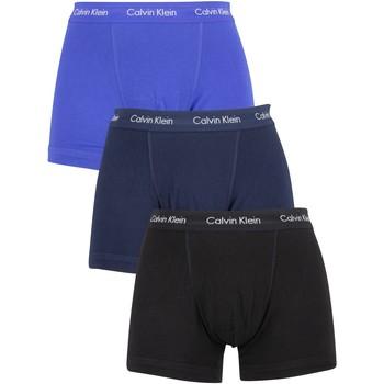 Kleidung Herren Boxershorts/Slips Calvin Klein Jeans Herren 3 Packungsstämme, Blau blau