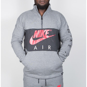 Kleidung Herren Langärmelige Hemden Nike Nike Air Top Fleece - Carbon Heather / Anthracite / Siren Red 35
