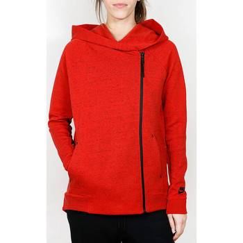Kleidung Damen Hemden Nike Nike Tech Fleece Cape - Light Crimson / Heather / Black 8