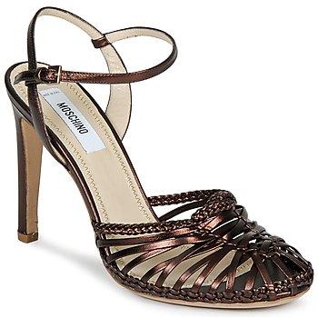 Schuhe Damen Sandalen / Sandaletten Moschino MA1603 Braun