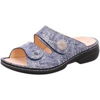 Schuhe Damen Pantoffel Finn Comfort Pantoletten Sansibar 2550-553414-sansibar blau