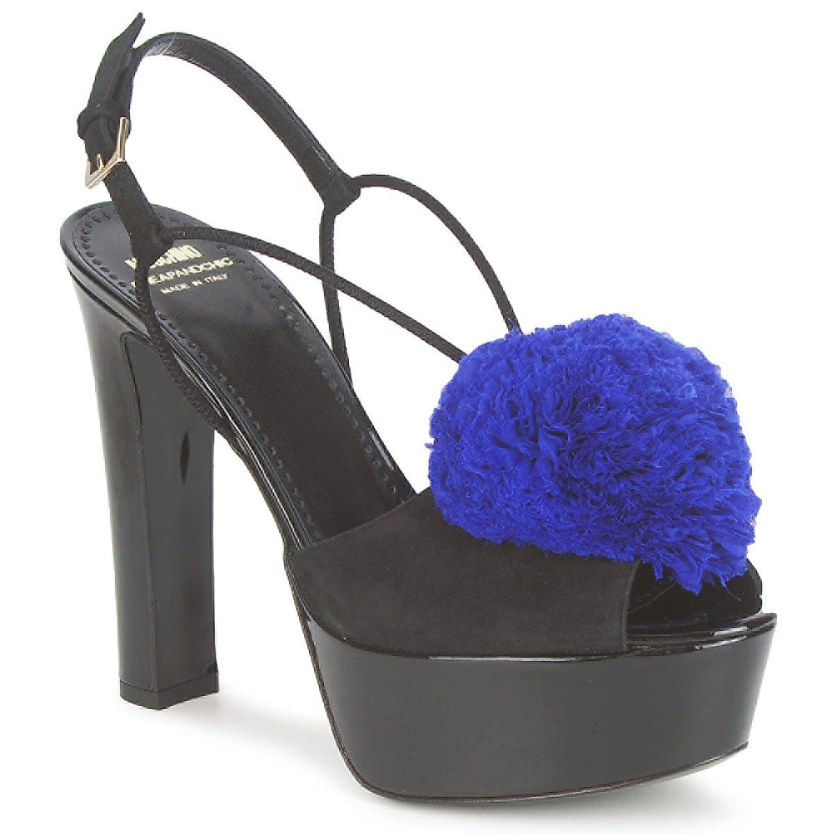 Moschino Cheap & CHIC CA1608 Ooc-schwarz-blau - Kostenloser Versand bei Spartoode ! - Schuhe Sandalen / Sandaletten Damen 217,50 €