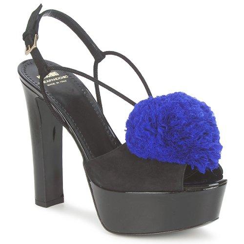 Moschino Cheap & CHIC CA1608 Ooc-schwarz-blau  Schuhe Sandalen / Sandaletten Damen 348