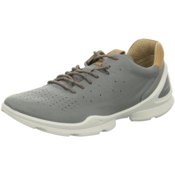 Schuhe Herren Sneaker Low Ecco Schnuerschuhe Mens 841804/01539 grau