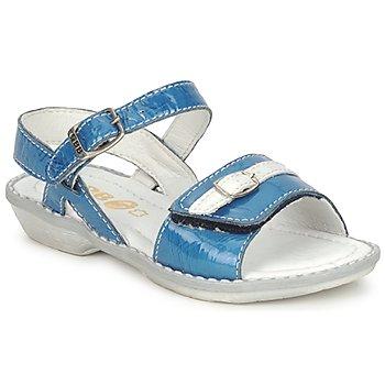 Schuhe Mädchen Sandalen / Sandaletten GBB CARAIBES FIZZ Blau / Weiss