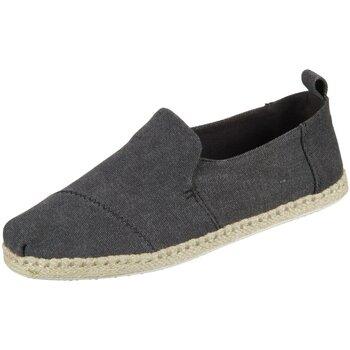 Schuhe Herren Leinen-Pantoletten mit gefloch Toms Slipper Deconstructed Alpargata Rope 10011621 grau