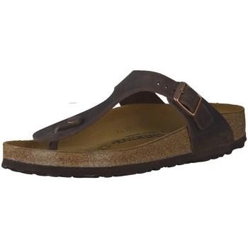 Schuhe Herren Pantoffel Birkenstock Offene 72 Gizeh 743831 FL braun