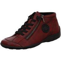 Schuhe Damen Sneaker High Remonte Dorndorf Schnuerschuhe Jacks R3491-35 VINO rot