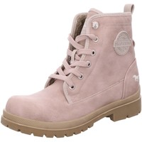 Schuhe Damen Low Boots Mustang Stiefeletten Schnürstiefelette Warmfutter 1207-601-555 rosa