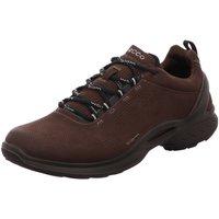 Schuhe Herren Sneaker Low Ecco Schnuerschuhe Outdoor 837534/01178 braun