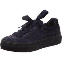 Schuhe Damen Sneaker Low Legero Schnuerschuhe 3-00910-80 blau