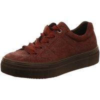 Schuhe Damen Sneaker Low Legero Schnuerschuhe 3-00910-58 rot