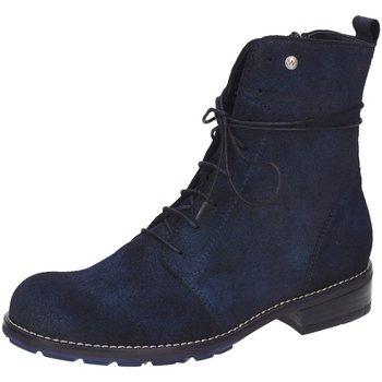 Schuhe Damen Boots Wolky Stiefeletten velvet Murray 0443248 blau