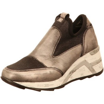 Schuhe Damen Slip on Cetti C1121 ANTIQ FLAME PLOMO gold
