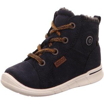 Schuhe Jungen Schneestiefel Ecco Schnuerstiefel  FIRST tex blau