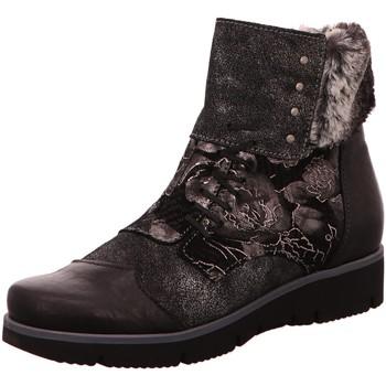 Schuhe Damen Low Boots Charme Stiefeletten 6043-L-1-18 schwarz
