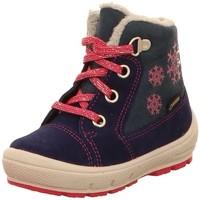 Schuhe Mädchen Schneestiefel Superfit Schnuerstiefel blau
