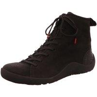 Schuhe Damen Boots Think Stiefeletten Getscho Schnürboot 83055-09 schwarz