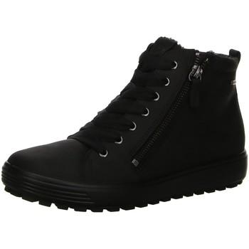 Schuhe Damen Schneestiefel Ecco Stiefeletten Ladies 450163-02001 schwarz