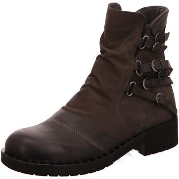 Schuhe Damen Boots Baboos Stiefeletten 0702-332-1-332-128 grau
