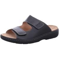 Schuhe Herren Pantoffel Longo Offene Fußbettpantolette 1006507 schwarz