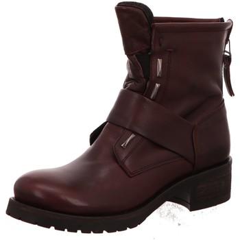 Schuhe Damen Low Boots Macakitzbühel Stiefeletten Bordo Nappa 2358 rot