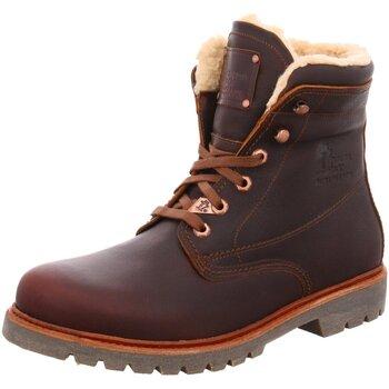 Schuhe Herren Schneestiefel Panama Jack Schnürstiefelette Warmfutter Panama 03 Aviator C 23 braun