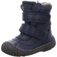 Schuhe Mädchen Schneestiefel Bisgaard Klettstiefel 61016.888-608 navy Leder 61016.888-608 blau
