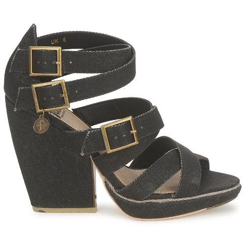 Feud WASP Schwarz  Schuhe Sandalen / Sandaletten Damen 95,20