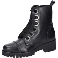 Schuhe Damen Low Boots Fabbrica Dei Colli Stiefeletten 2ADD203 schwarz