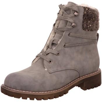 Schuhe Damen Schneestiefel Laufsteg München Stiefeletten HW180503 grau