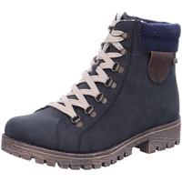 Schuhe Damen Schneestiefel Rieker Stiefeletten 785F8-14 blau