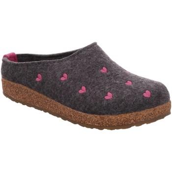 Schuhe Damen Hausschuhe Haflinger Couriccini 741031-4 anthrazit grau