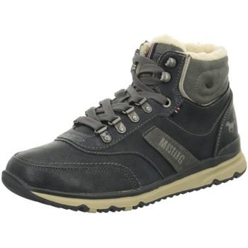 Schuhe Herren Schneestiefel Mustang High Top 4095-602-820 blau