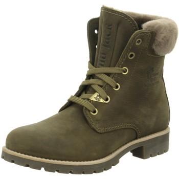 Schuhe Damen Schneestiefel Panama Jack Stiefeletten khaki Panama 03 Iglo B33 grün