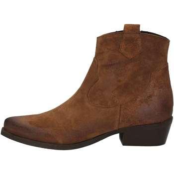 Schuhe Damen Ankle Boots Cube 801 LEDER