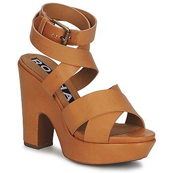 Schuhe Damen Sandalen / Sandaletten Rochas RO18082 Braun