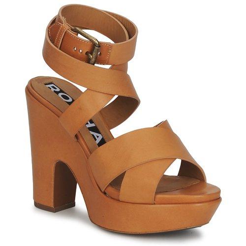 Rochas RO18082 Braun  Schuhe Sandalen / Sandaletten Damen 476