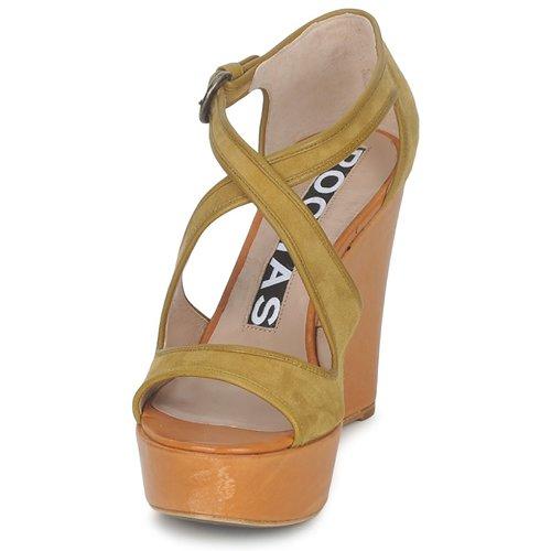 Rochas RO18131 Braun Schuhe Sandalen / Sandaletten Damen 230