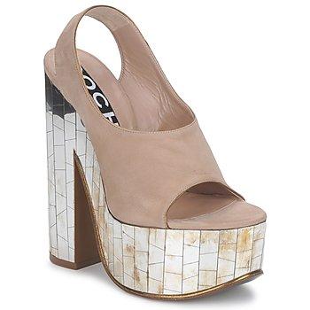 Schuhe Damen Sandalen / Sandaletten Rochas RO18175 Tabac