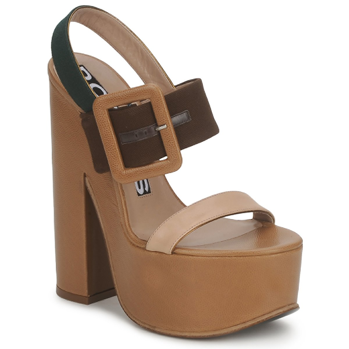 Rochas RO18231 Braun / Beige - Kostenloser Versand bei Spartoode ! - Schuhe Sandalen / Sandaletten Damen 269,50 €